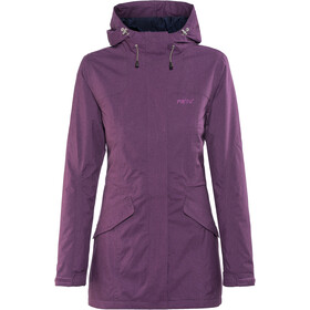 Meru Kristianstad Waterproof Padded Coat Damen deep purple melange